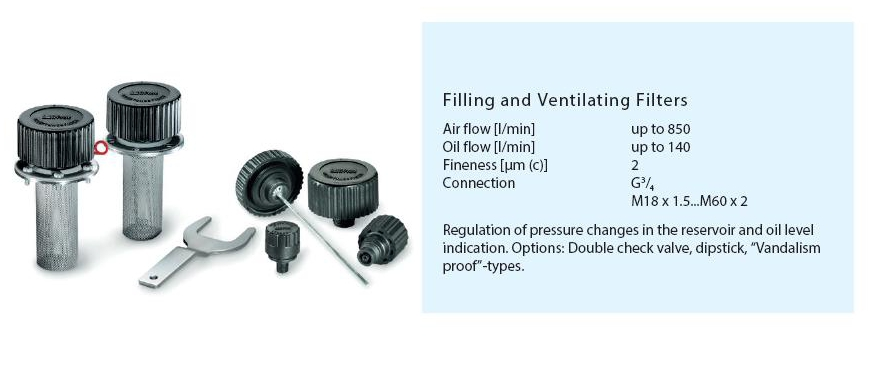 Filling and Ventilating Filters