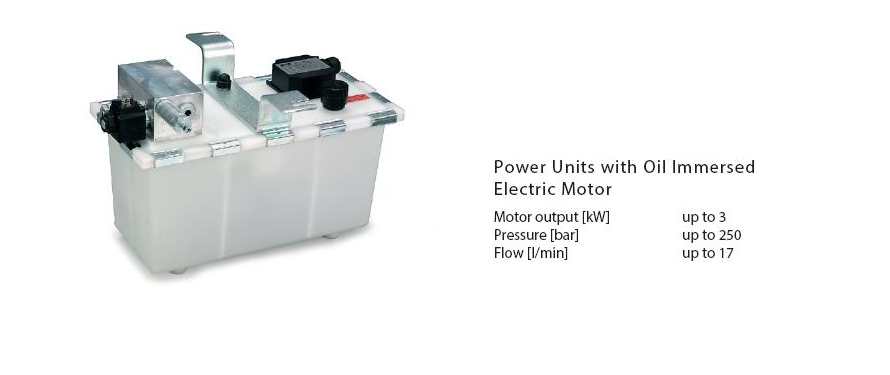 Power Units with Oil Immersed Electric Motor